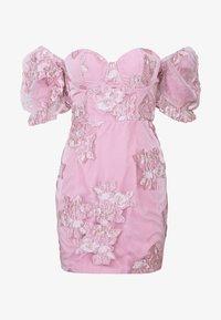 Missguided - PUFF SLEEVE MINI DRESS - Vestito elegante - pink - 5