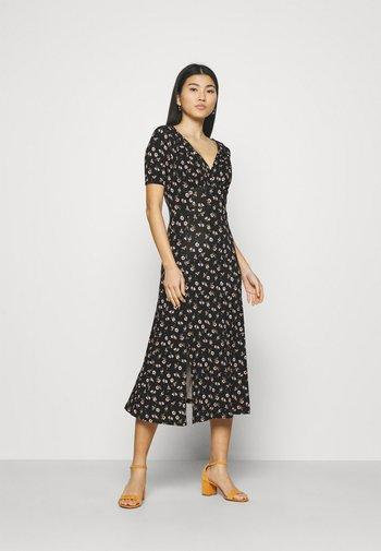 Jersey dress - black/multicolor