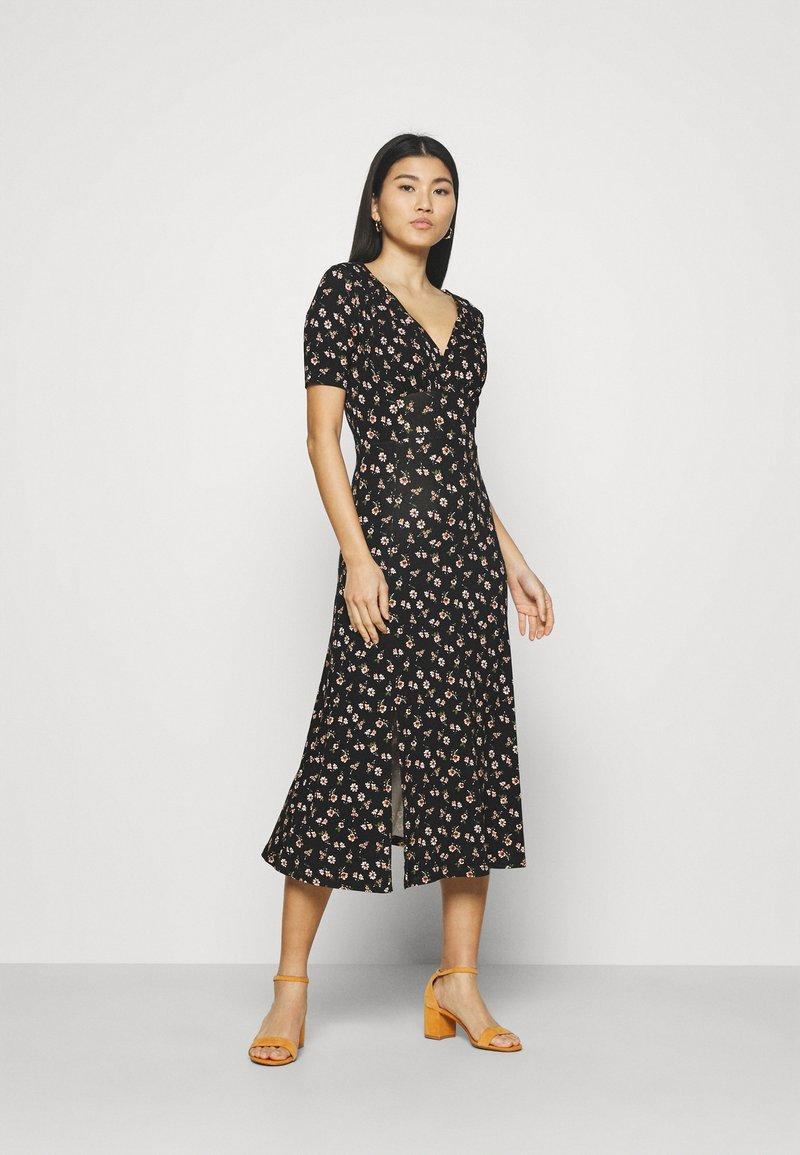 Anna Field - Žerzejové šaty - black/multicolor
