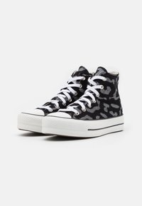 Converse - CHUCK TAYLOR ALL STAR LIFT - High-top trainers - black/grey/white - 2
