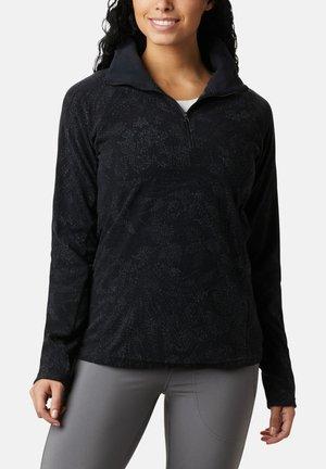 Fleece jumper - black dotty flo