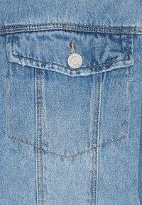 Simply Be - OVERSIZED EX BOYFRIEND JACKET  - Short coat - blue vintage/bleach - 2