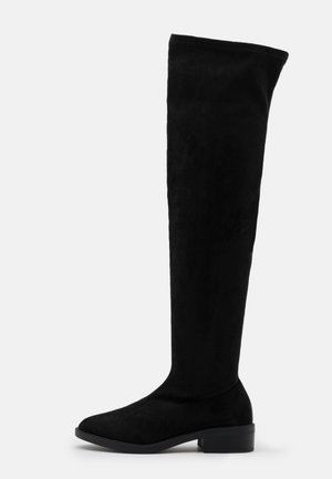 WIDE FIT TAMARA - Over-the-knee boots - black