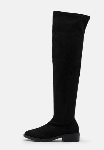 WIDE FIT TAMARA - Overknee laarzen - black