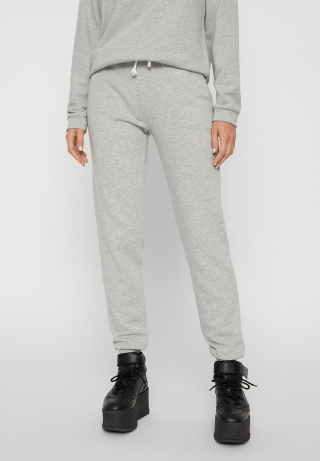 PCEMILA PANTS - Spodnie treningowe - light grey melange