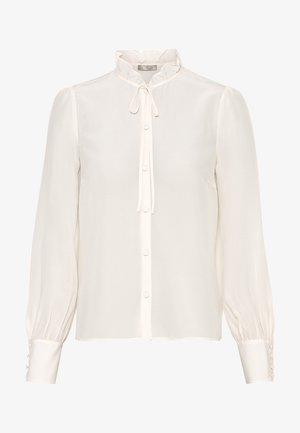 MIT RÜSCHENKRAGEN - Button-down blouse - creme