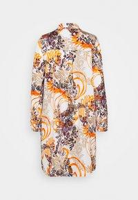 Emily van den Bergh - KLEID - Shirt dress - sand/black/orange - 1