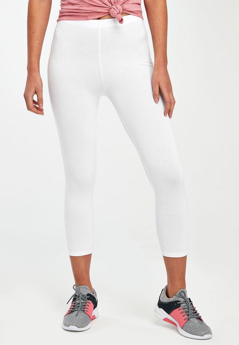 Next - WHITE CROPPED LEGGINGS - Leggings - white