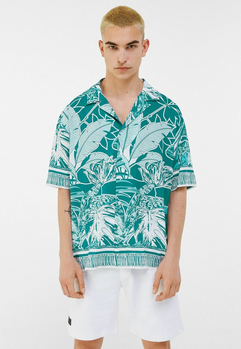 Bershka - Shirt - turquoise