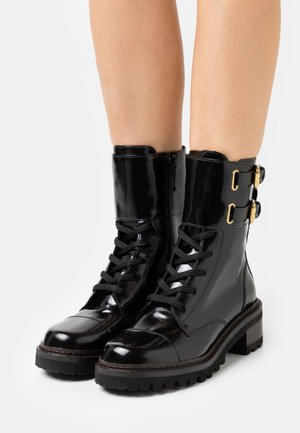 MALLORY LACE UP - Lace-up ankle boots - black