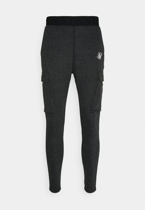 TONAL CHECK CARGO PANT - Cargobroek - grey