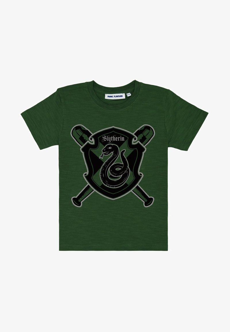 Fabric Flavours - HARRY POTTER SLYTHERIN QUIDDITCH TEE - Print T-shirt - green