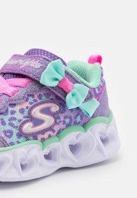 Skechers - HEART LIGHTS - Trainers - lavender/aqua/pink - 5
