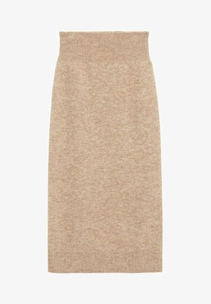 TALDORA - Pencil skirt - marron moyen
