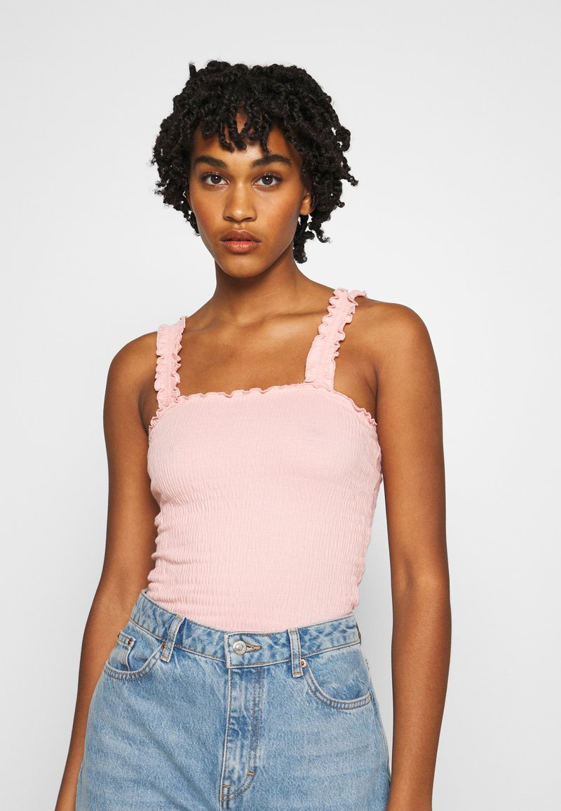 New Look - SHIRRED FRILL STRAP - Top - apricot