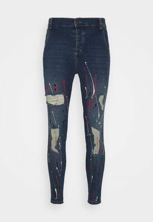 DISTRESSED RIOT - Jeans Skinny Fit - midstone