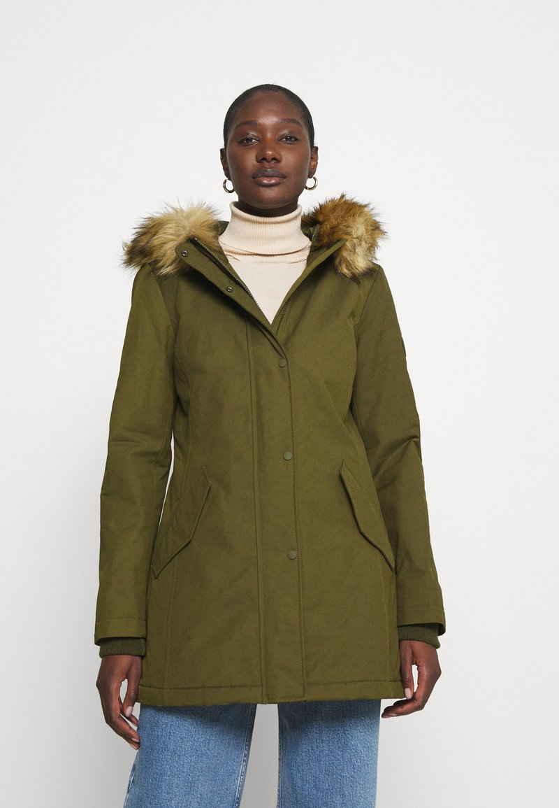 Marc O'Polo - THERMORE SHAPED FIX HOOD FRONT ZIP - Light jacket - natural olive