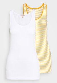 white base/mustard/white