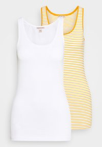 Anna Field - 2 PACK - Top - white base/mustard/white - 4