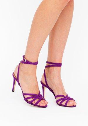 GRETA - High heeled sandals - royal purple