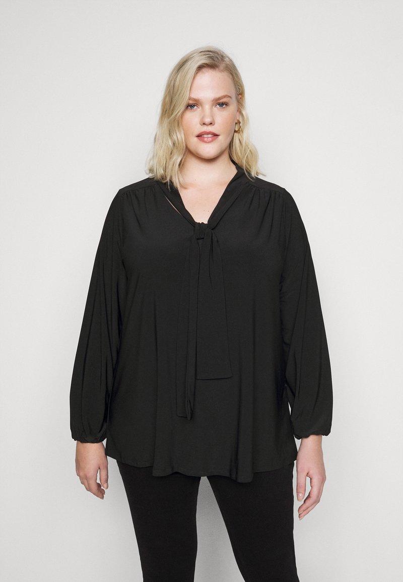 Evans - BLACK BOW - Long sleeved top - black