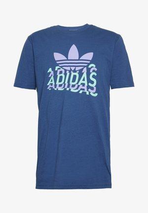 MULTI FADE TEE - Print T-shirt - blue