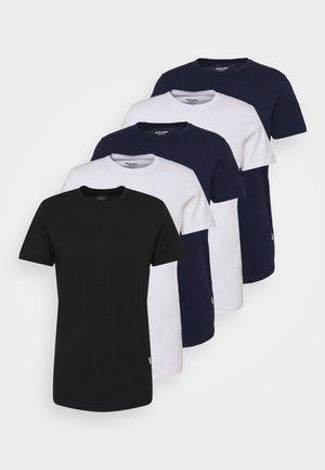 JJENOA TEE CREW NECK 5 PACK - Basic T-shirt - white