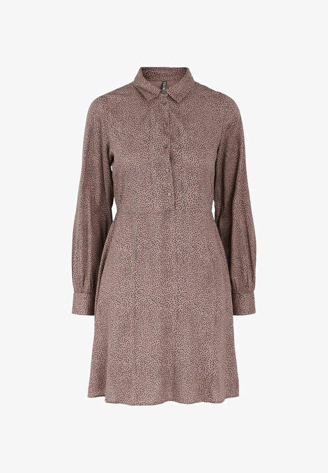 Vestido camisero - taupe gray