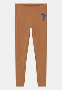 Mini Rodini - DOLPHIN UNISEX - Leggings - Trousers - brown - 0