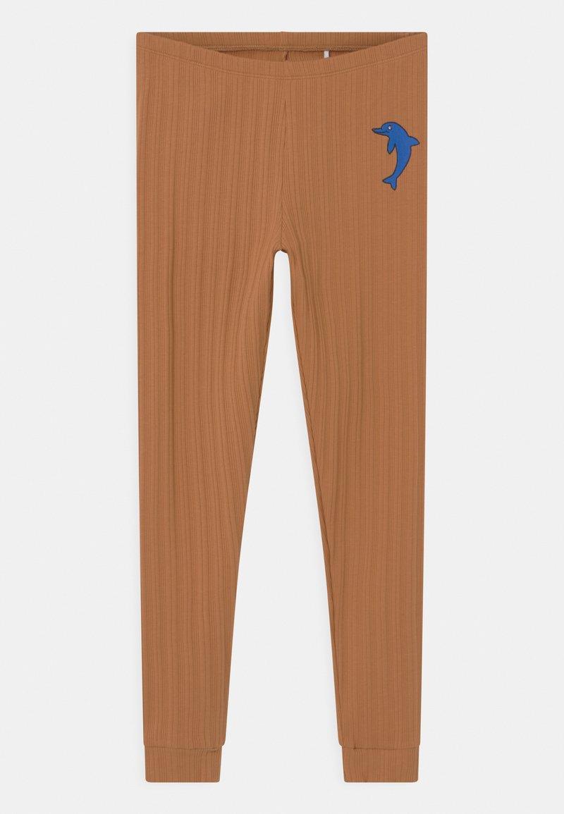 Mini Rodini - DOLPHIN UNISEX - Leggings - Trousers - brown