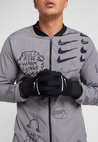 Nike Performance - SPHERE RUNNING GLOVES 2.0 - Fingervantar - black/silver - 1