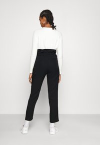 Tommy Jeans - PAPERBAG - Trousers - black - 2