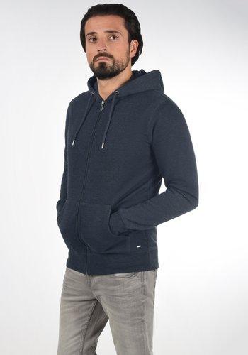 BERTIZIP - Zip-up sweatshirt - blue melange