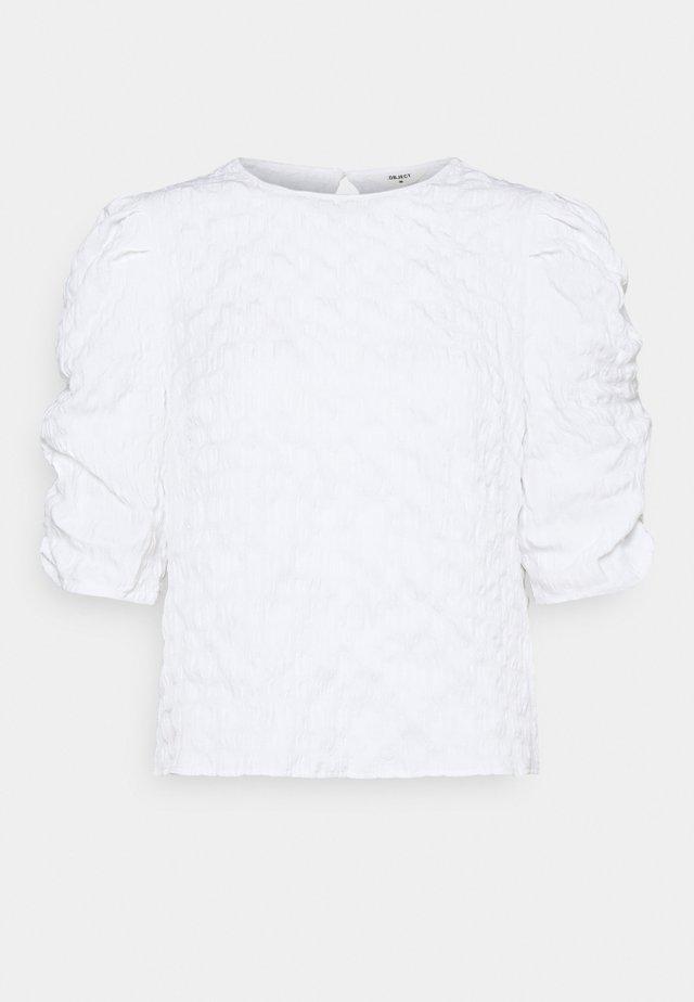 OBJGERDA TOP PETIT - Blus - bright white