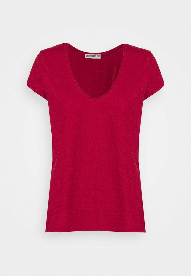 AVIVI - T-Shirt basic - rot