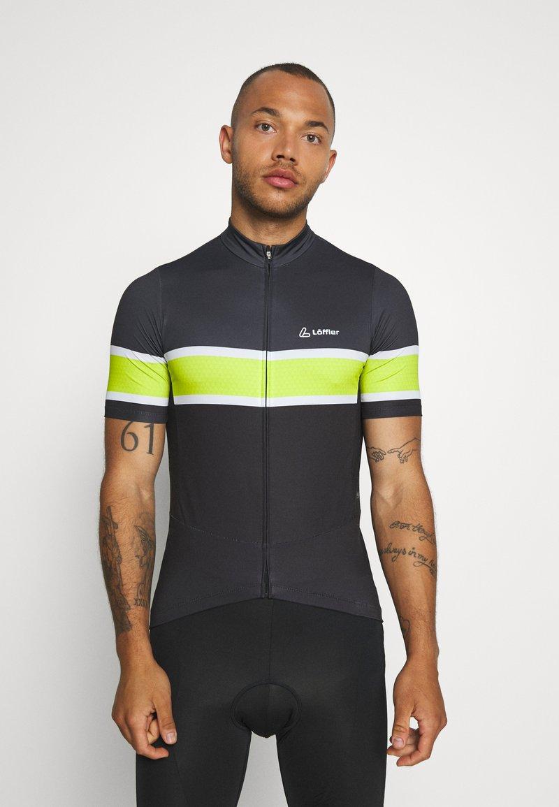 LÖFFLER - BIKE PACE - T-Shirt print - black/light green