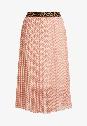 SLAMILY SKIRT - Áčková sukně - burnt ochre stripes