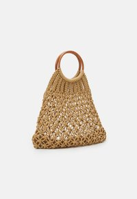 Pieces - PCLUNIA CROCHET BAG - Tote bag - almond buff - 1