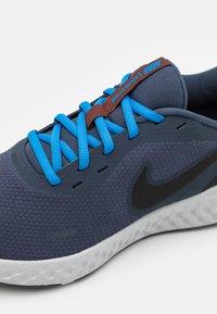 Nike Performance - REVOLUTION 5 - Neutral running shoes - thunder blue/black/grey fog/light photo blue/dark pony - 5