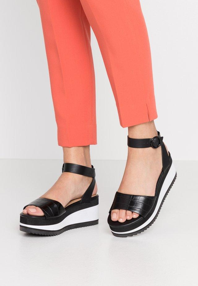 RILEYY - Platform sandals - black