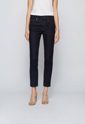 CROP - Jean slim - dark blue