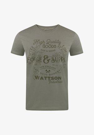 RIVLEON - Print T-shirt - grün pjd