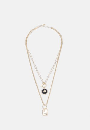 PCLESLIE COMBI NECKLACE - Necklace - gold colored/clear