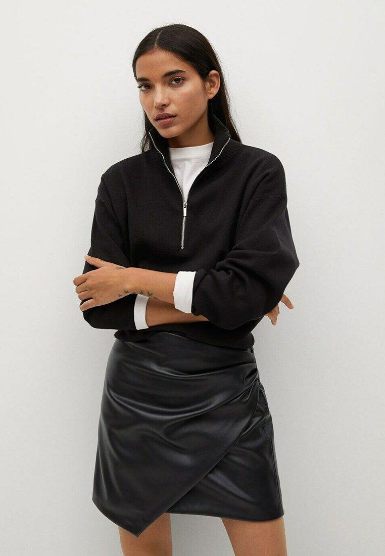 Mango - Wrap skirt - noir