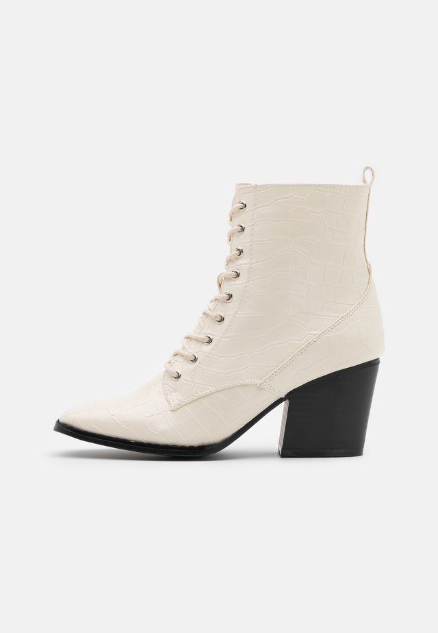 Lace-up ankle boots - bone