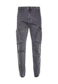 SIKSILK - TAPED CARGO PANTS - Cargo trousers - dark grey - 3