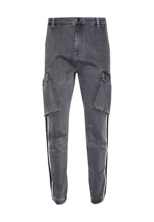 TAPED CARGO PANTS - Kapsáče - dark grey