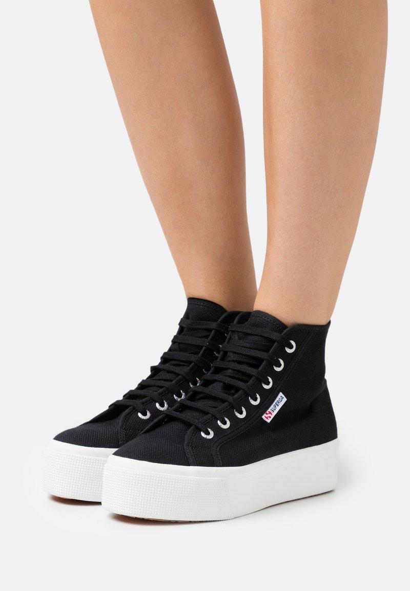 Superga - 2705  - High-top trainers - black/white