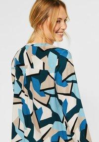 Cecil - BLUSE MIT GRAFIK-PRINT - Blouse - blue - 2
