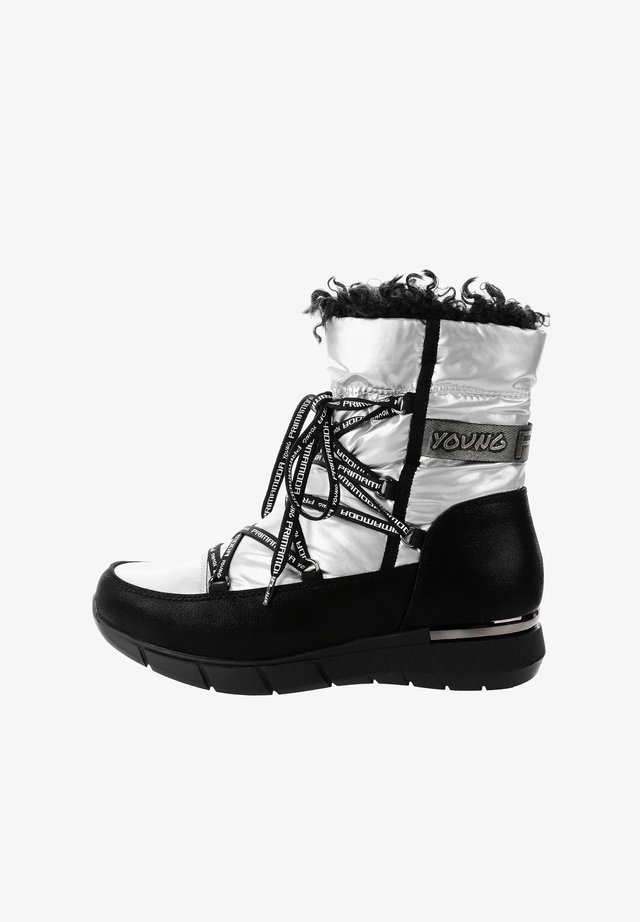 RAIU - Lace-up ankle boots - silver